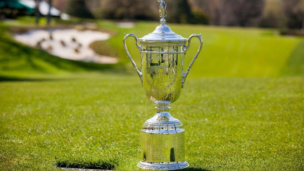 Le tophée remis au vainqueur de l'US Open de Golf
